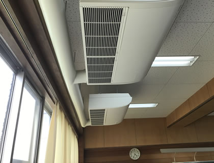 大型プラントの空調設備から家庭用エアコンまで幅広く対応